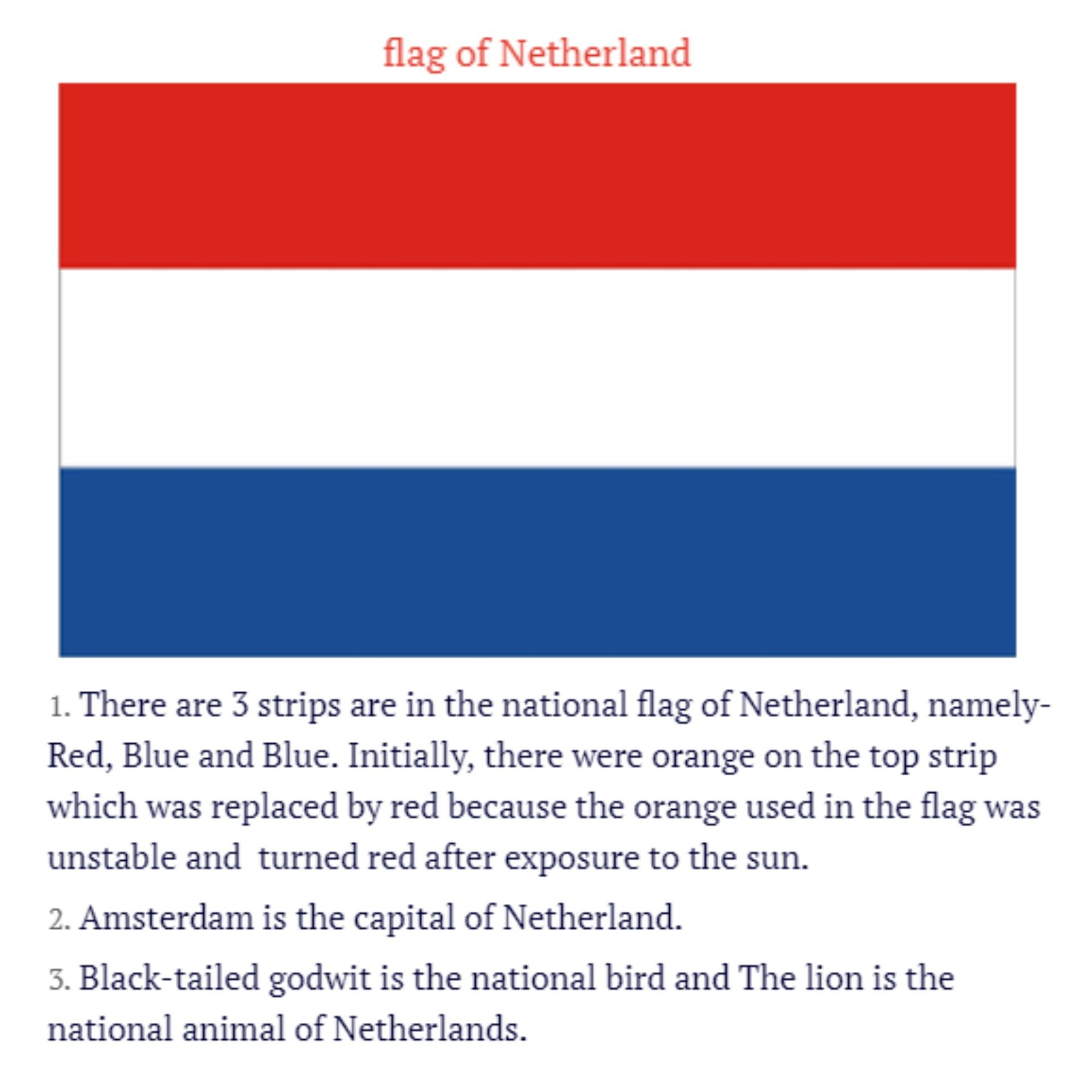 50 Netherland Facts L Interesting Facts About Netherland Updated