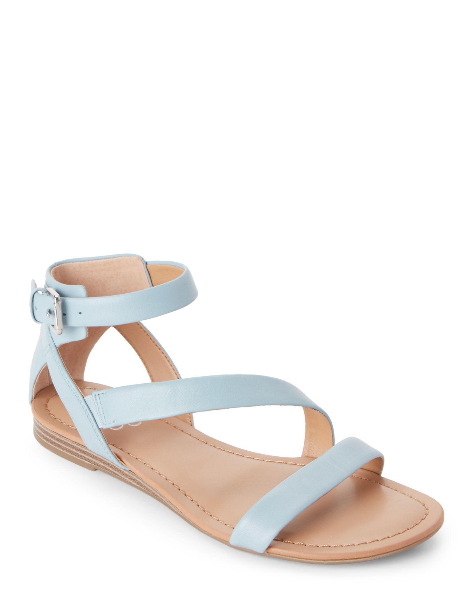 a778bb9e03a239 Franco Sarto Pale Blue Gracia Demi Wedge Gladiator Sandals