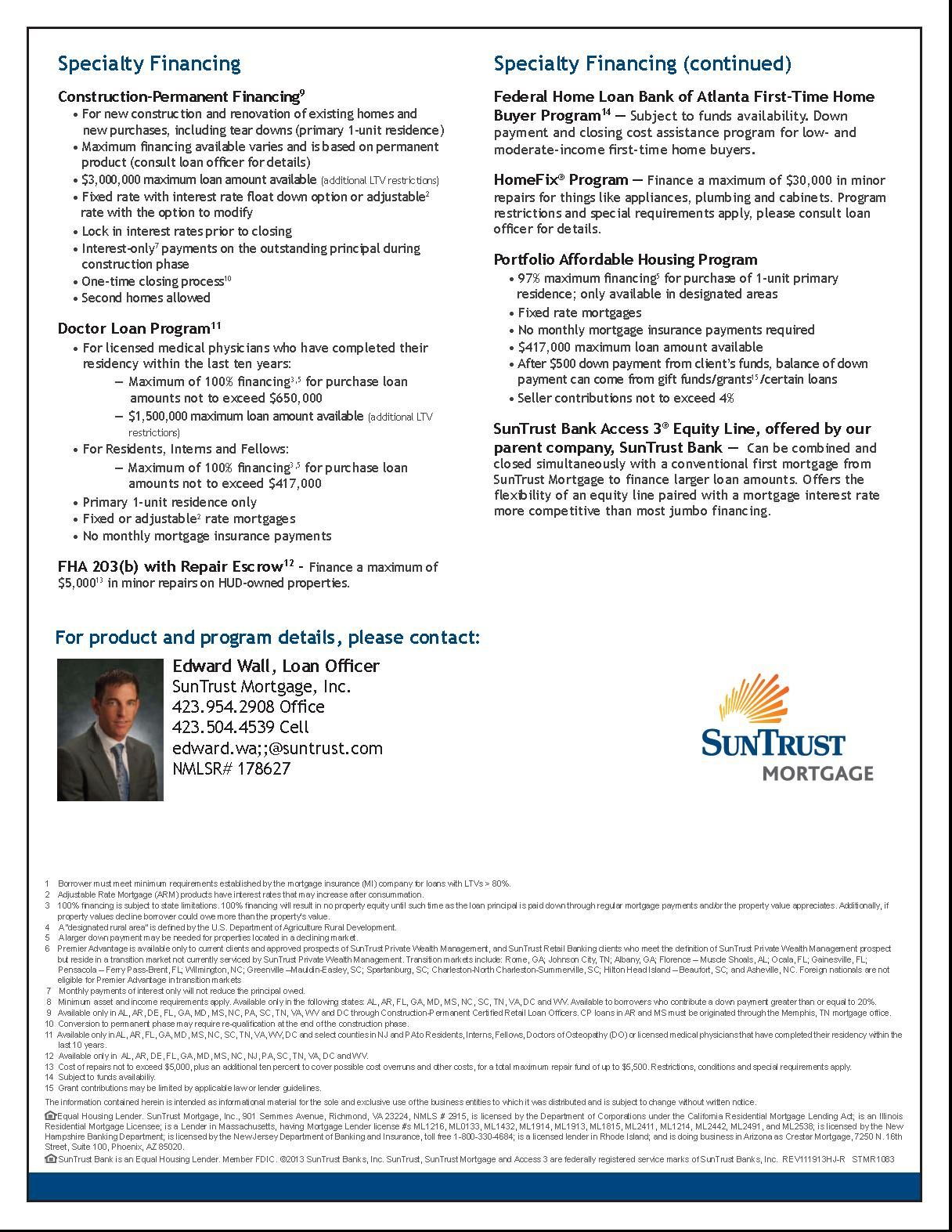 Available Lending Products Page 2 First Time Home Buyers