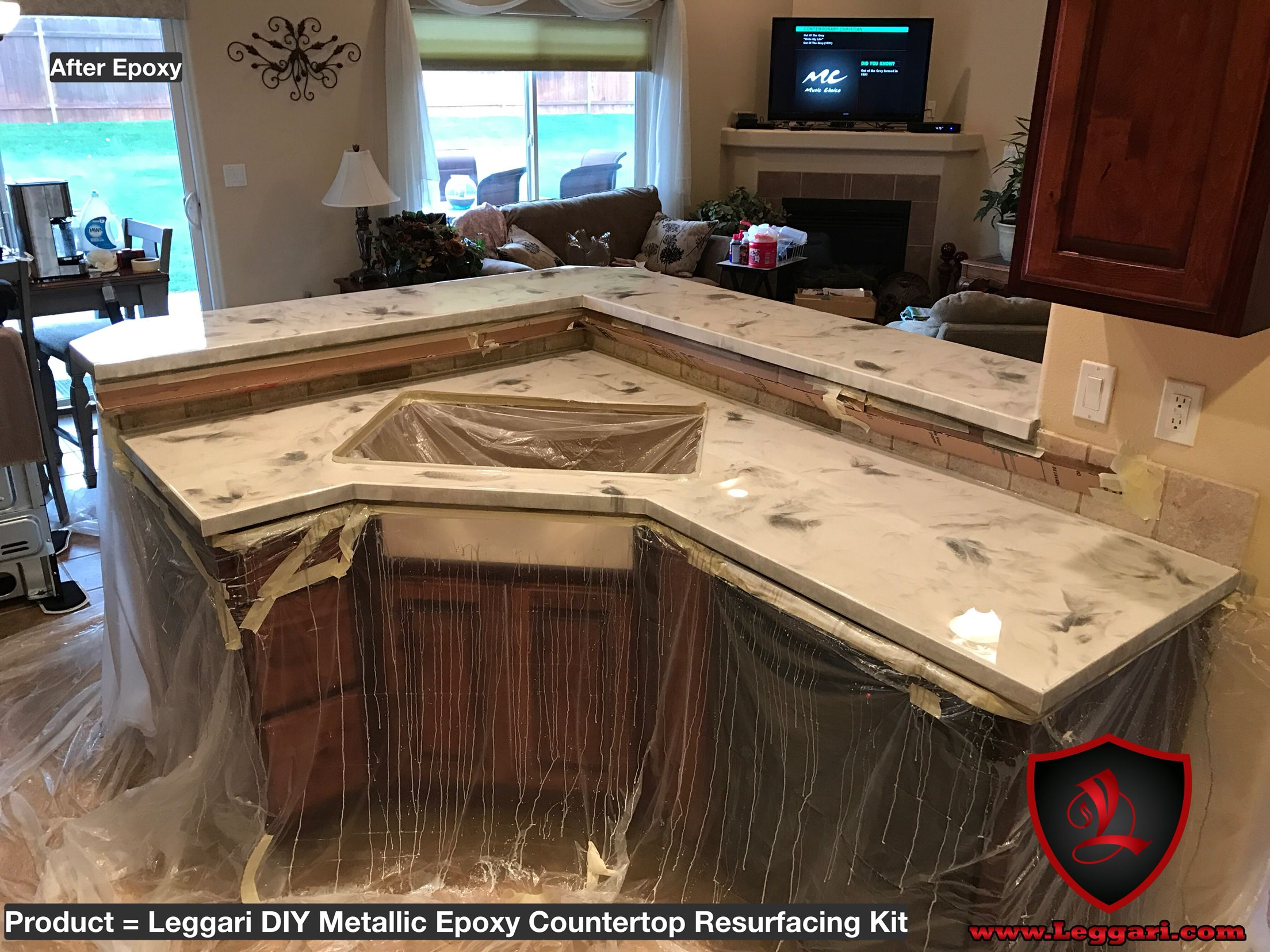 Awesome #diy #metallic #epoxy #countertop #kit Installed In A #kitchen Right Over  The Existing #Formica Our Kits Are As Easy To Install As Painting A Wall  And Can ...