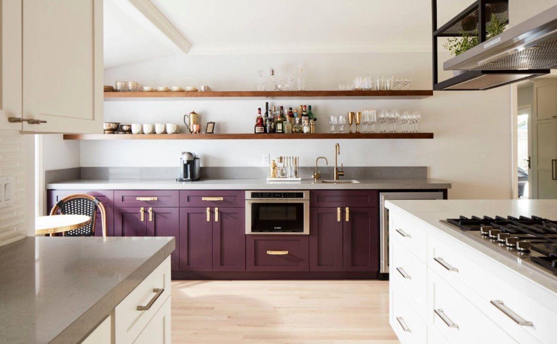 Purple Cabinets Kitchen Cabinet Trends Easy Kitchen Upgrade Purple Kitchen