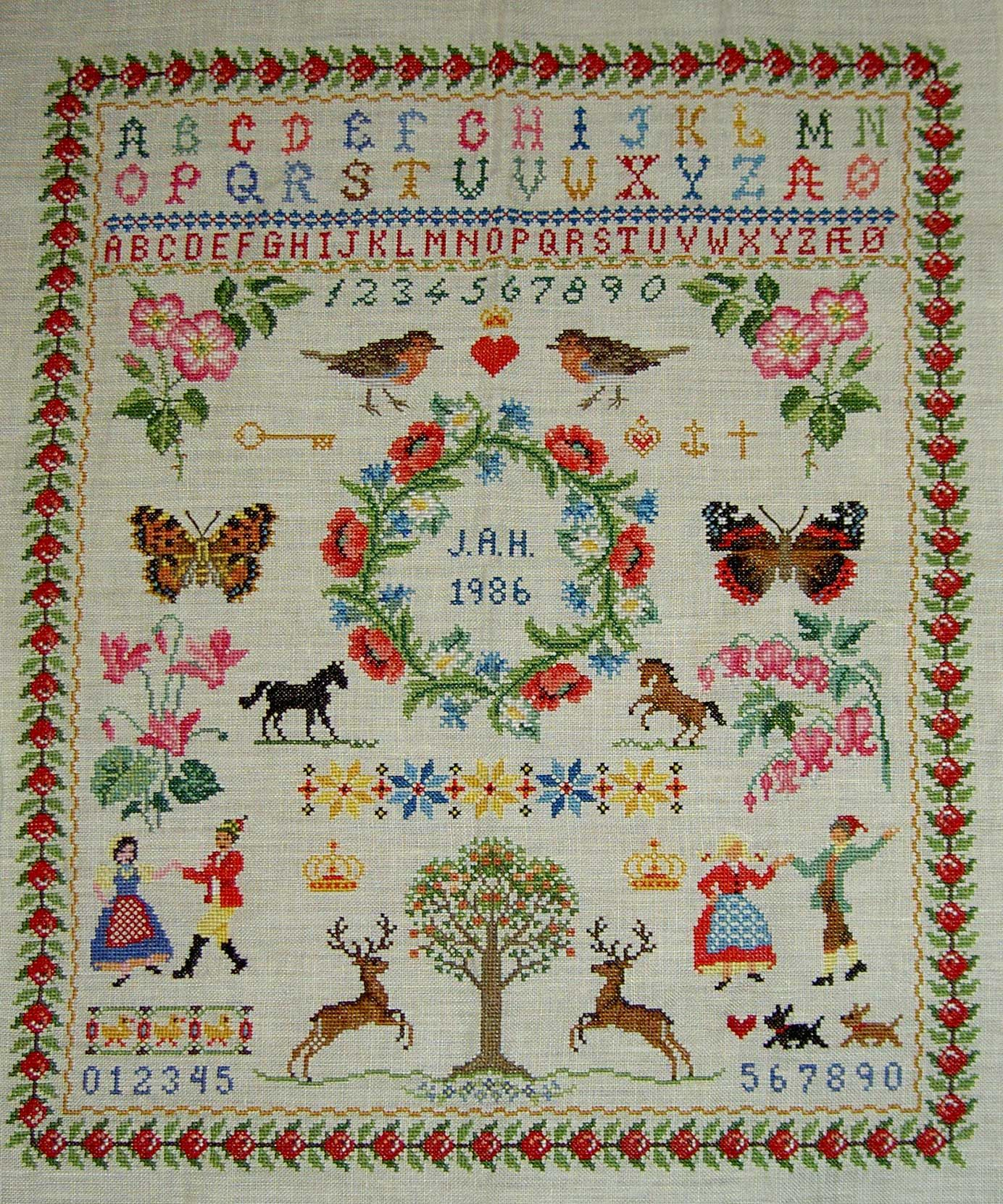 Images family sampler cross stitch google search sew
