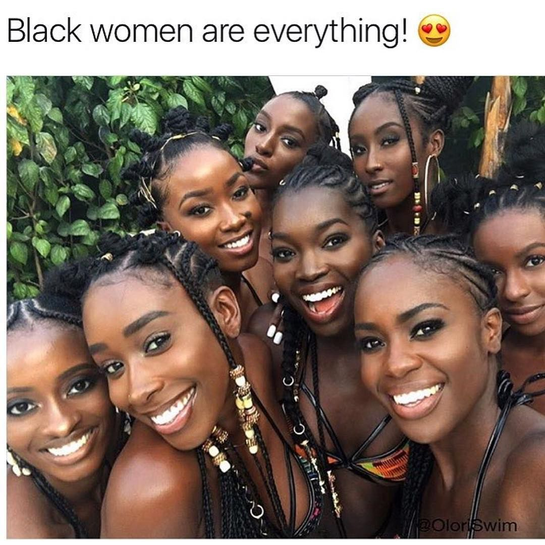 Plus size nude black women
