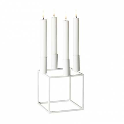 Kubus 4 Candle Holder White In 2020 Candle Holders Scandinavian Homewares Candles