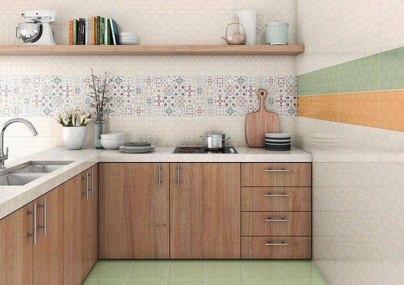 Crédence cuisine carreaux de ciment patchwork et artistique ...