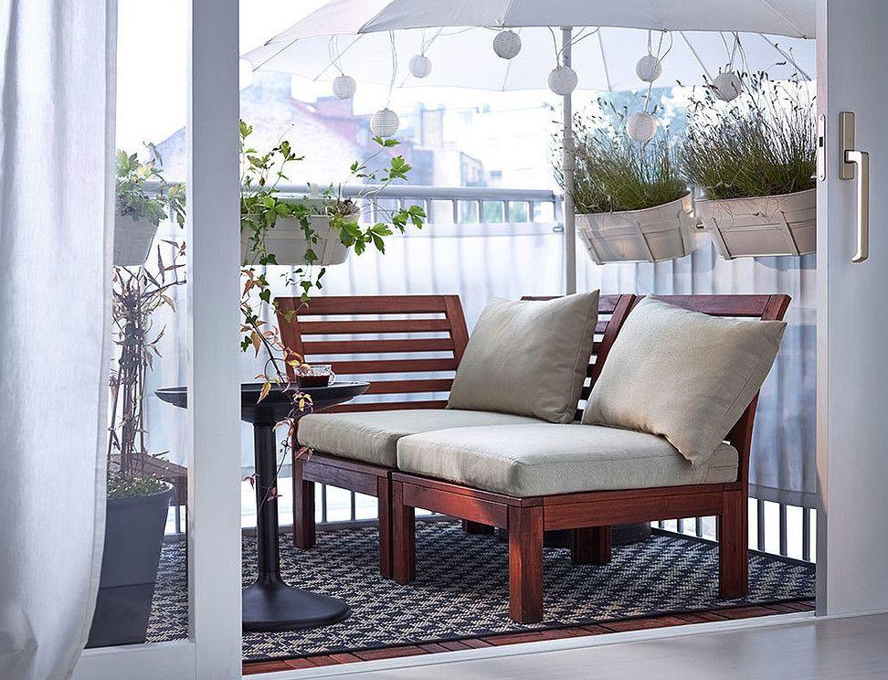 Der Balkon Unser Kleines Wohnzimmer Im Sommer Zuhause Ikea Applaro Schoner Wohnen