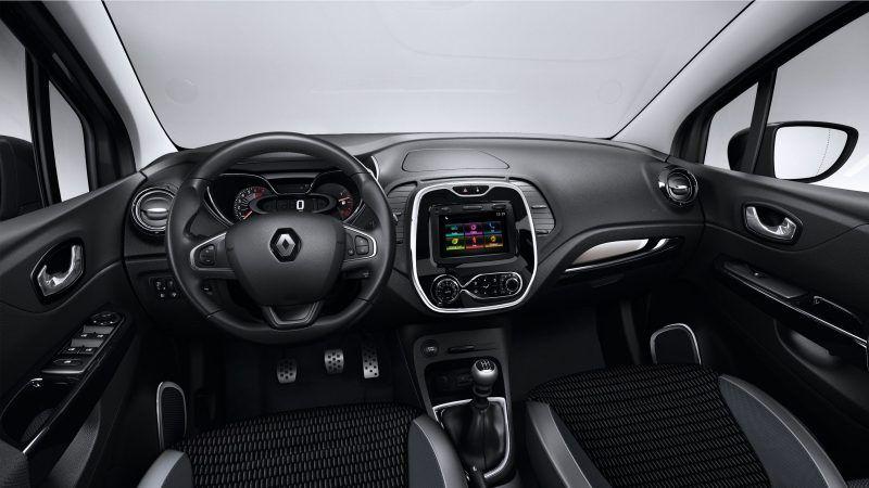 Renault CAPTUR - Vista interior naranja y negra | Autito lindo ...