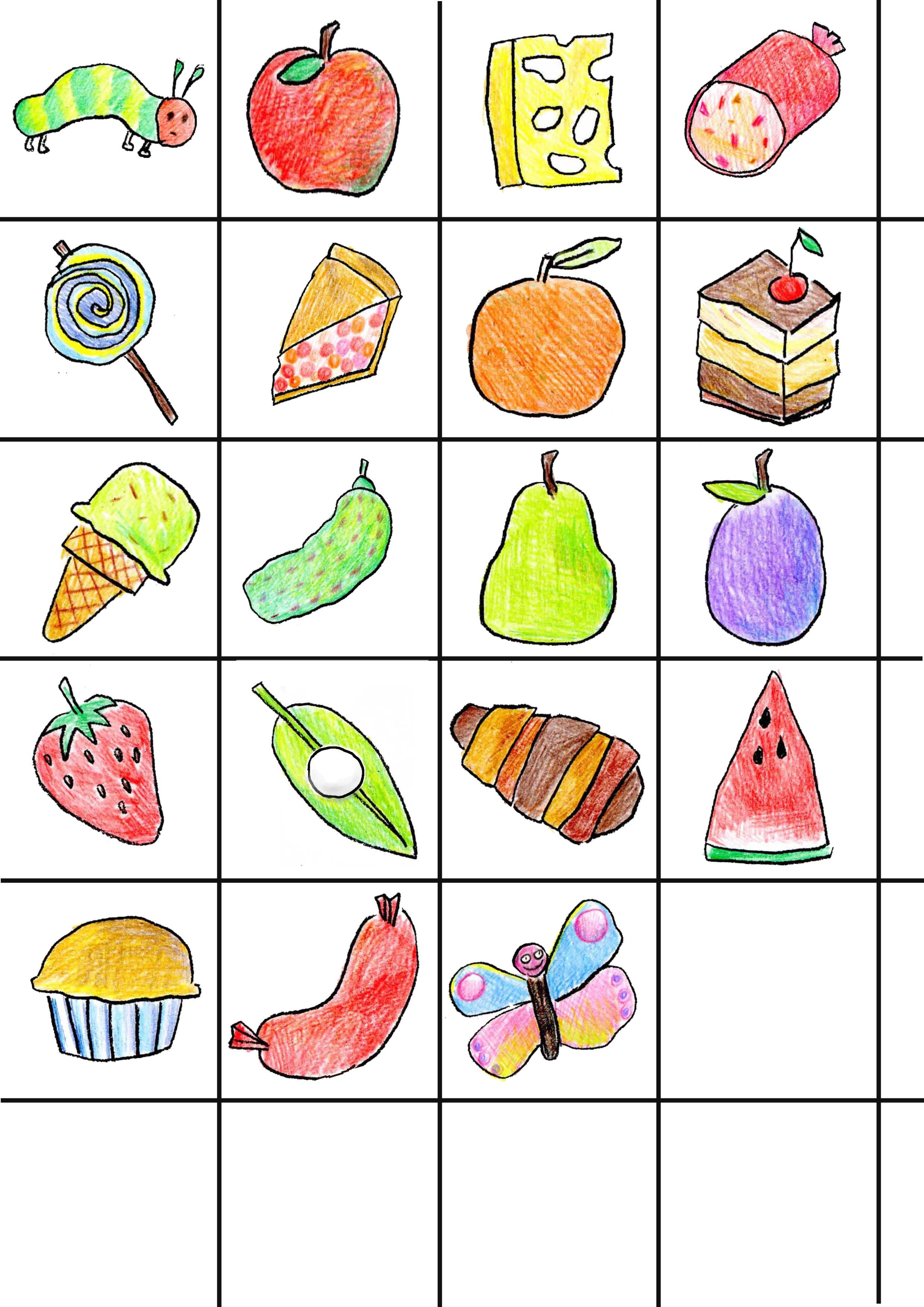 The Very Hungry Caterpillar Bingo
