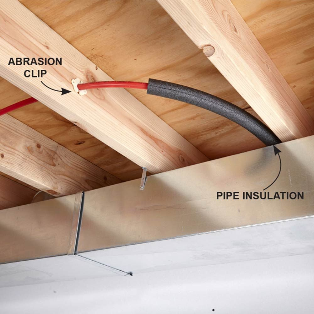 Plumbing With Pex Tubing Pipe Insulation Insulation And
