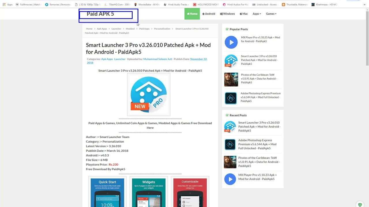 download apk smart launcher 3