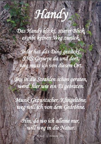 Pin von Ralf - G. Helmecke auf Gedichte | Gedichte, Handy