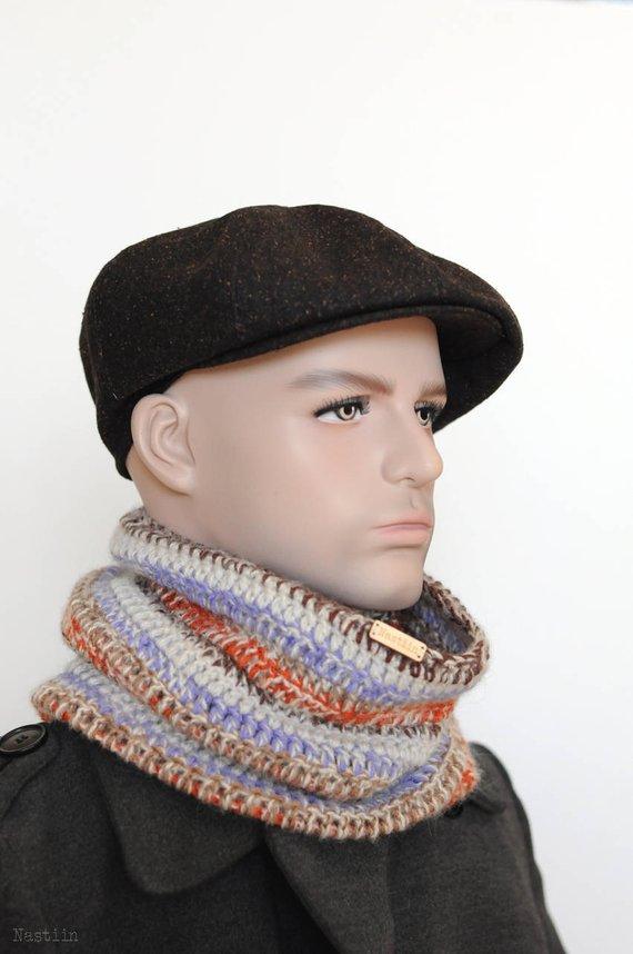 46394d5358b Brown tweed newsboy hat Mens newsboy hat Drivers cap Womens newsboy cap  Cabbie hat Womens wool hat D