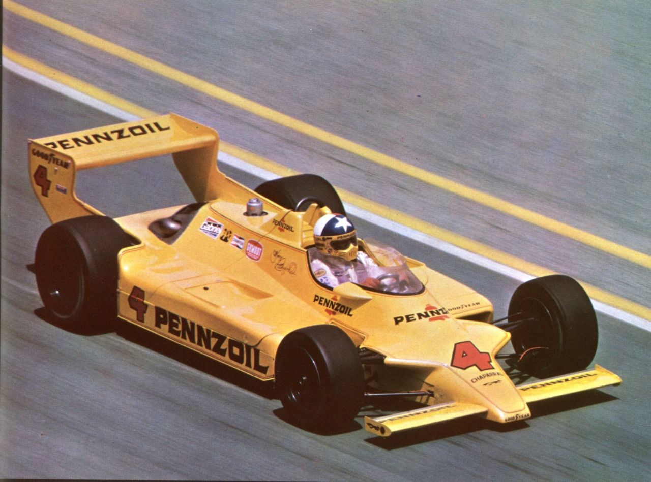Johnny Rutherford, Chaparral 2K Cosworth @ Indy 500 1980