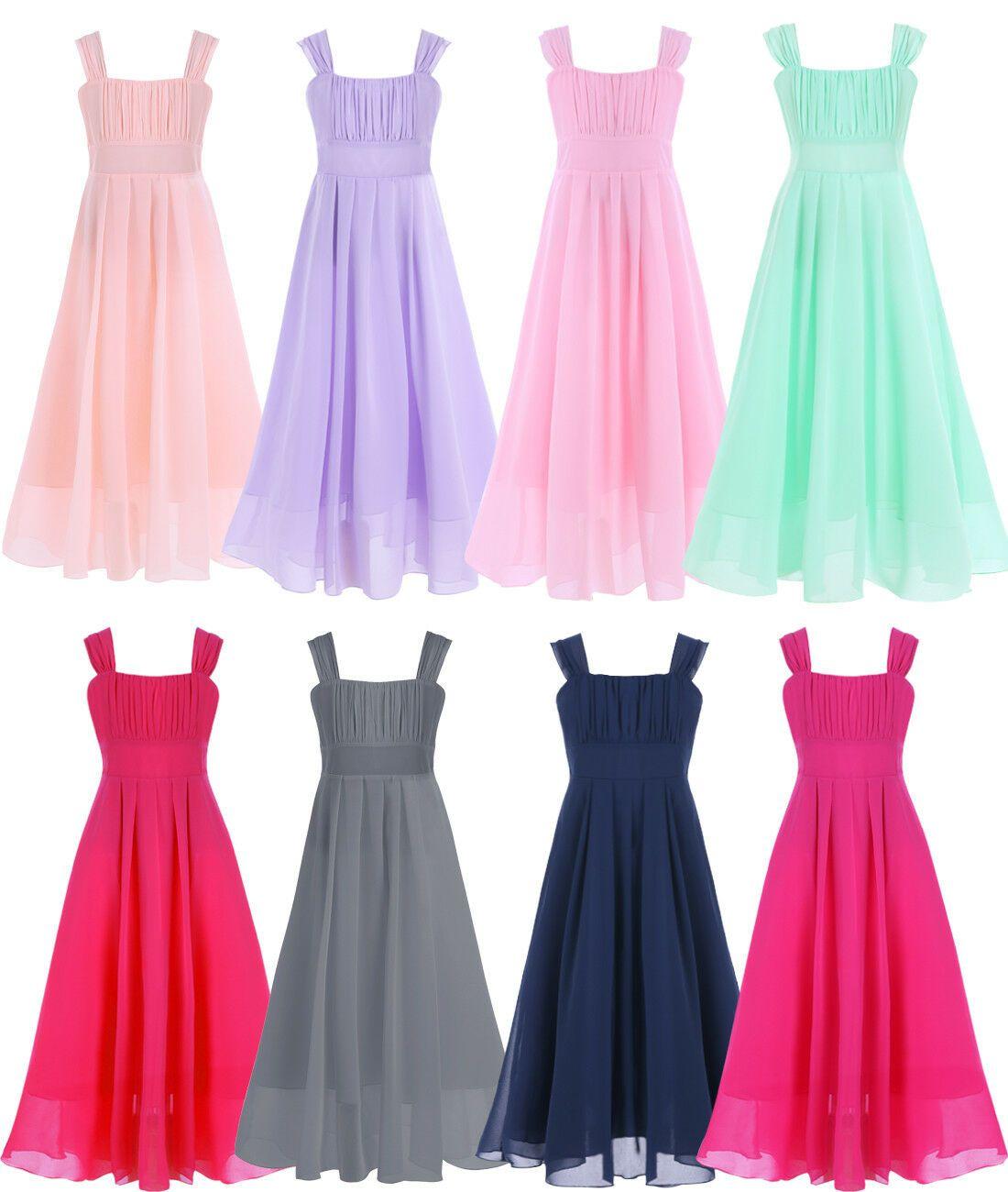 Mädchen Kinder Festlich Kleid Blumenmädchenkleider Größe 17 17