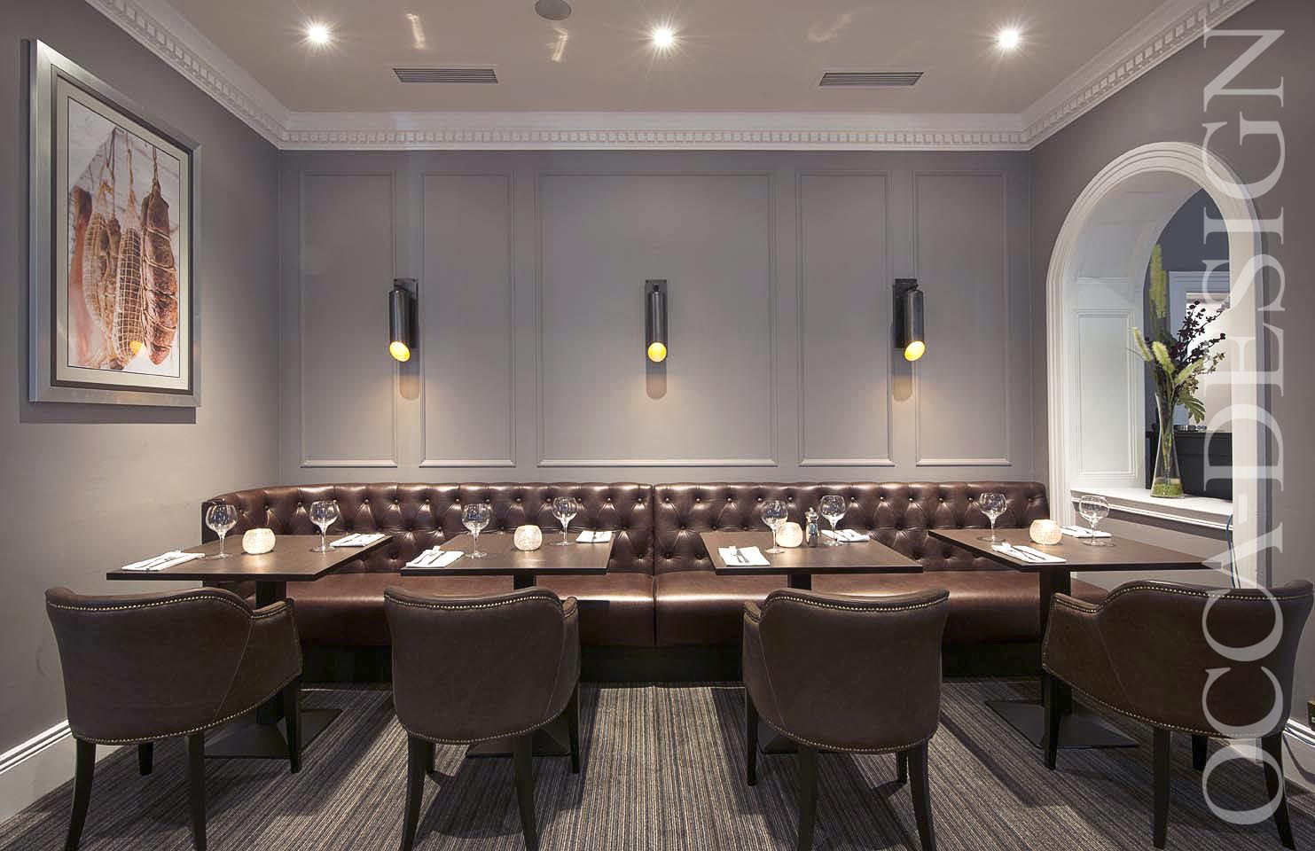 Hotel Interior Design Restaurant Private Dining Room Leather Chairs Contemporary