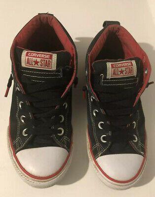 SponsoredeBay  Converse Chuck Taylor All Star Sneaker Tennis Shoe Black Red Sz 5 Junior Hi Top Source by UnisexShoesKids shoes outfit