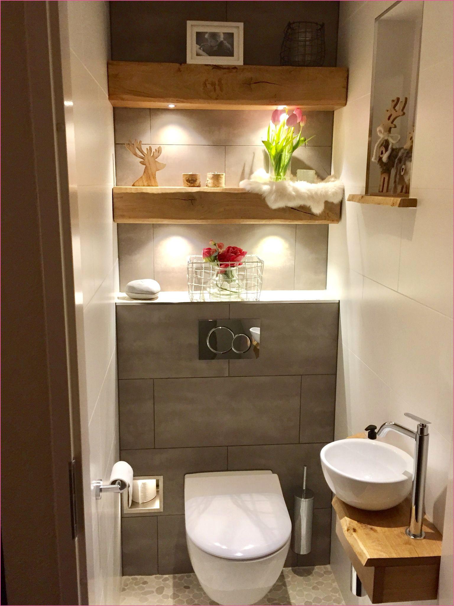 Gaste Wc Gestaltung Beispiele In 2020 Kleines Bad Dekorieren Badezimmer Dekor Badezimmer