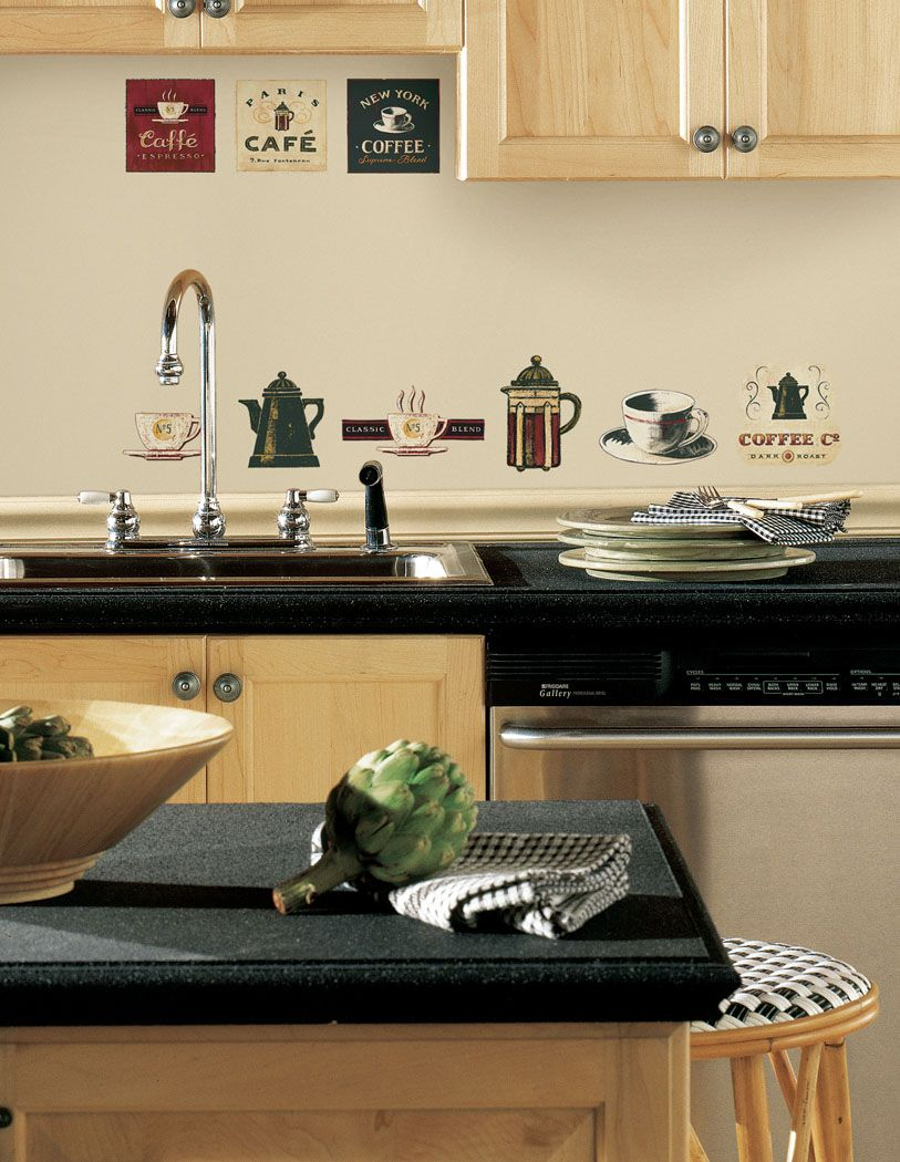 Coffee kitchen decor theme  Backpanel your kitchen can be modified Utilization of the mirror as