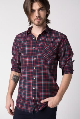 8c72a08af3ced Erkek Gömlek Modelleri Slim Fit ve Spor Gömlekler | DeFacto Erkek Günlük  Giyim