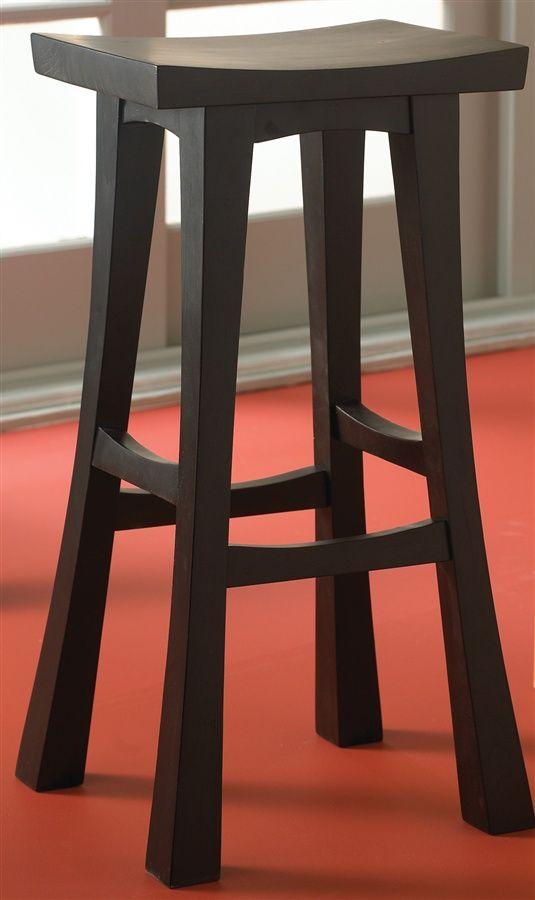 Shinto Asian Style Backless Barstool W Contoured Seat Japanese