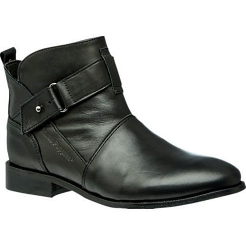 ec39e7682f5 Hush Puppies Vita Black Leather Womens Ankle Boot The Vita leather ankle  boot is a casual