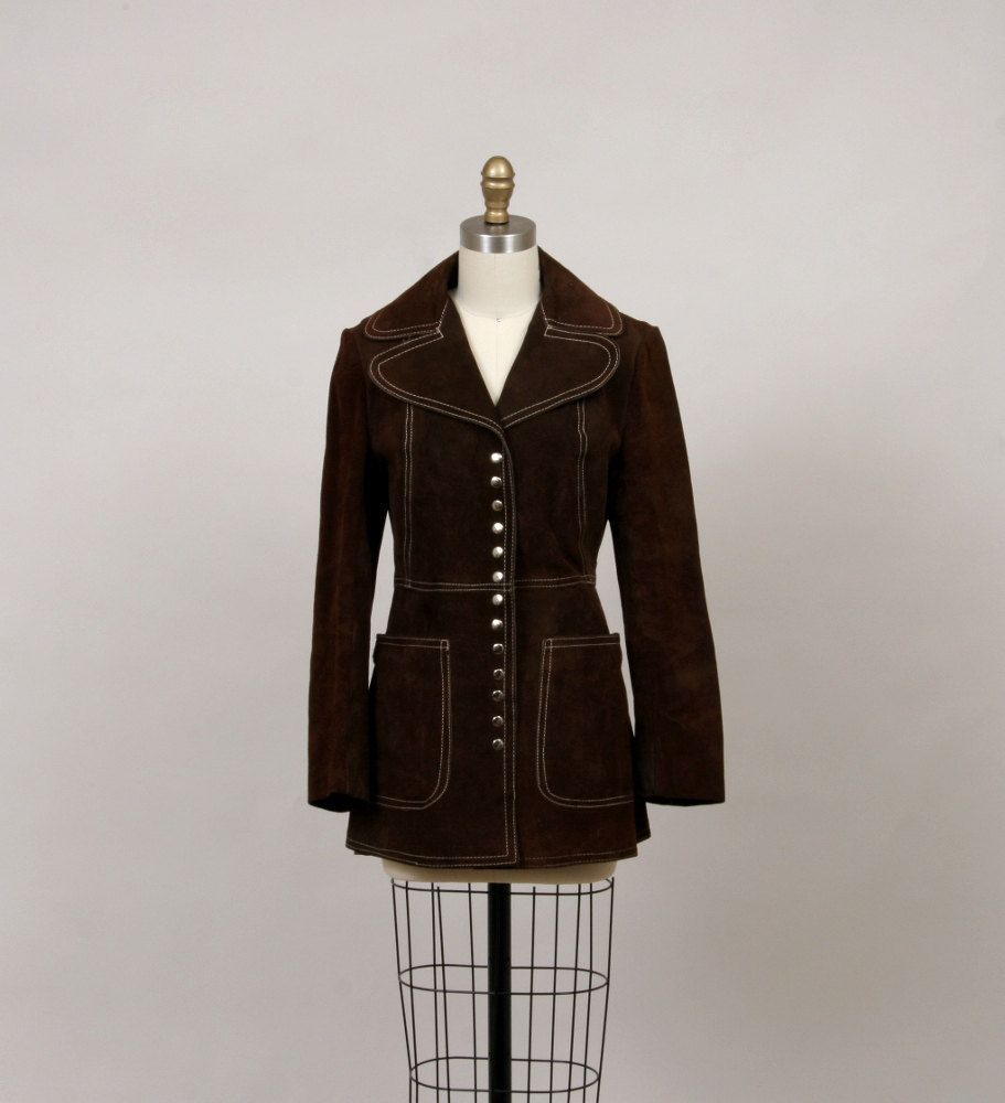 1970's suede jacket in chestnut by SepiaVintage on Etsy, $62.00