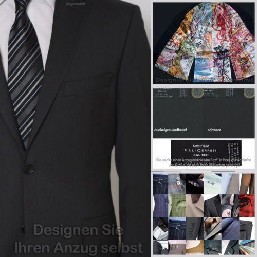 Cerutti Anzug (nach Ihren Wünschen gefertigt) alle Größen., 2 Farben, Schurwolle | eBay  zu finden in unserem eBay-Shop unter http://stores.ebay.de/jkkonfektion  In unserem Shop bieten wir Ihnen die größte Auswahl an Anzügen und Sakkos die Sie in Ebay finden werden. Sie haben die Möglichkeit den Stoff, den Schnitt, die Form, alle Ausstattungsdetails für Ihren Anzug oder Ihr Sakko selbst zu wählen. In jeder Größe! Ganz individuell - einfach einzigartig!