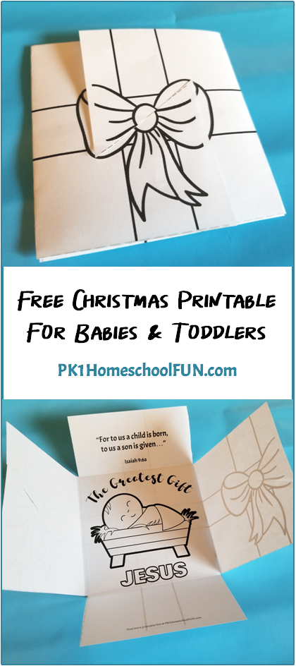 Free Christmas Printable For Babies & Toddlers   Sunday school ...