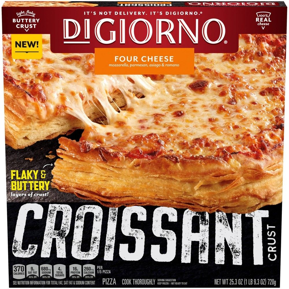 Digiorno Croissant Crust Four Cheese Frozen Pizza 25 3oz Pizza Crust Frozen Pizza Food