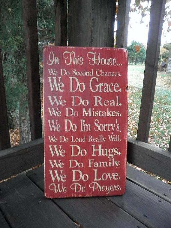 Country Home Decor Wood Signs Wall Decor Family Rules Sign Primitive Rustic