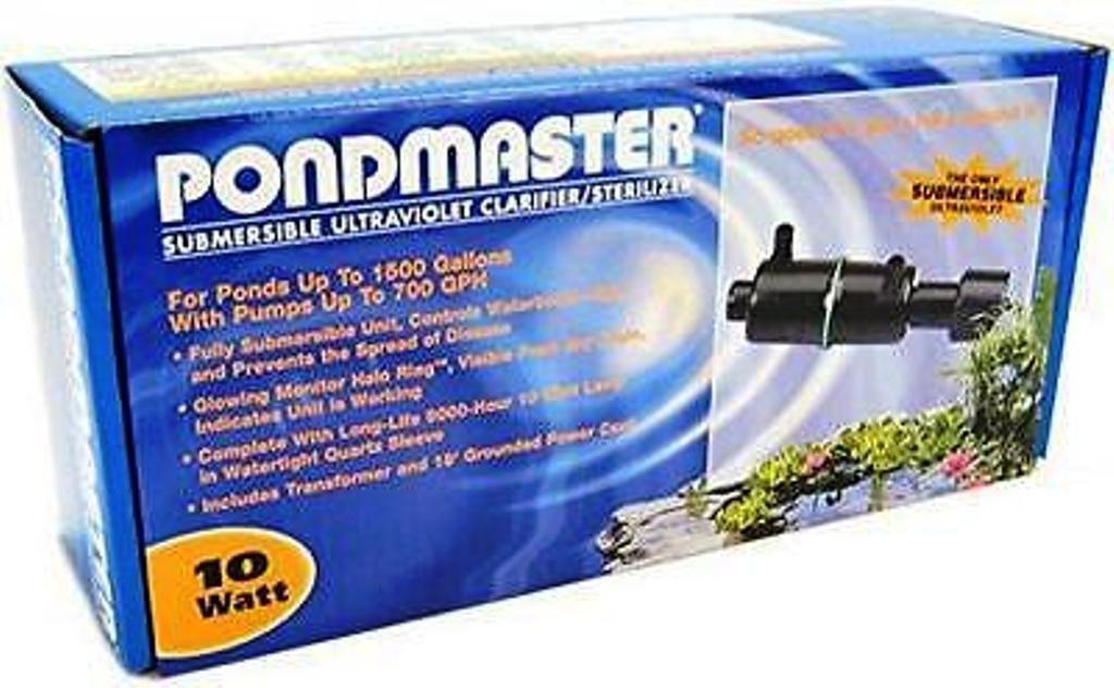 02910 Pondmaster Submersible 10 Watt Pond UV Clarifier