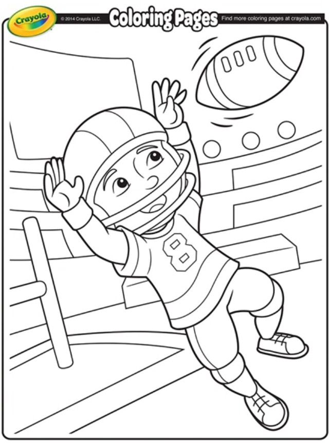 Pin By Chalane Sheffield On Football Coloring Pages Football