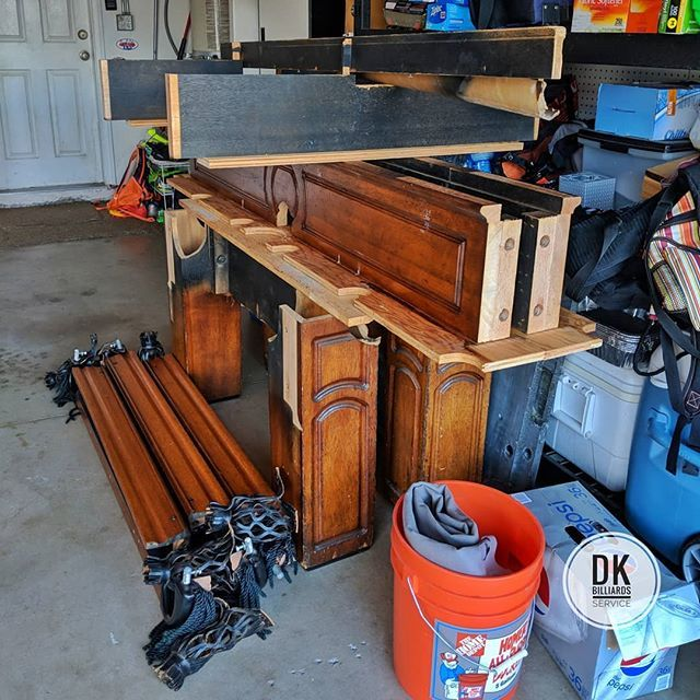 8 Foot Golden West Pool Table Upstairs Disassembly And