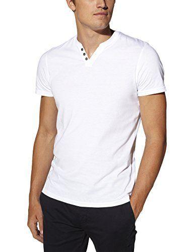 Sebet - T-shirt - Uni - Col V - Manches courtes - Homme - Blanc (Optical White) - XX-Large (Taille fabricant: XXL)Celio T8dCymfkxs