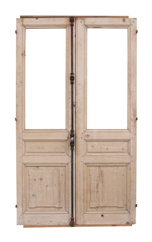 Antique Oak French Doors Wood Glass Front Door Architectural Windows Hardware Frames Antique French Doors Wood French Doors Oak French Doors