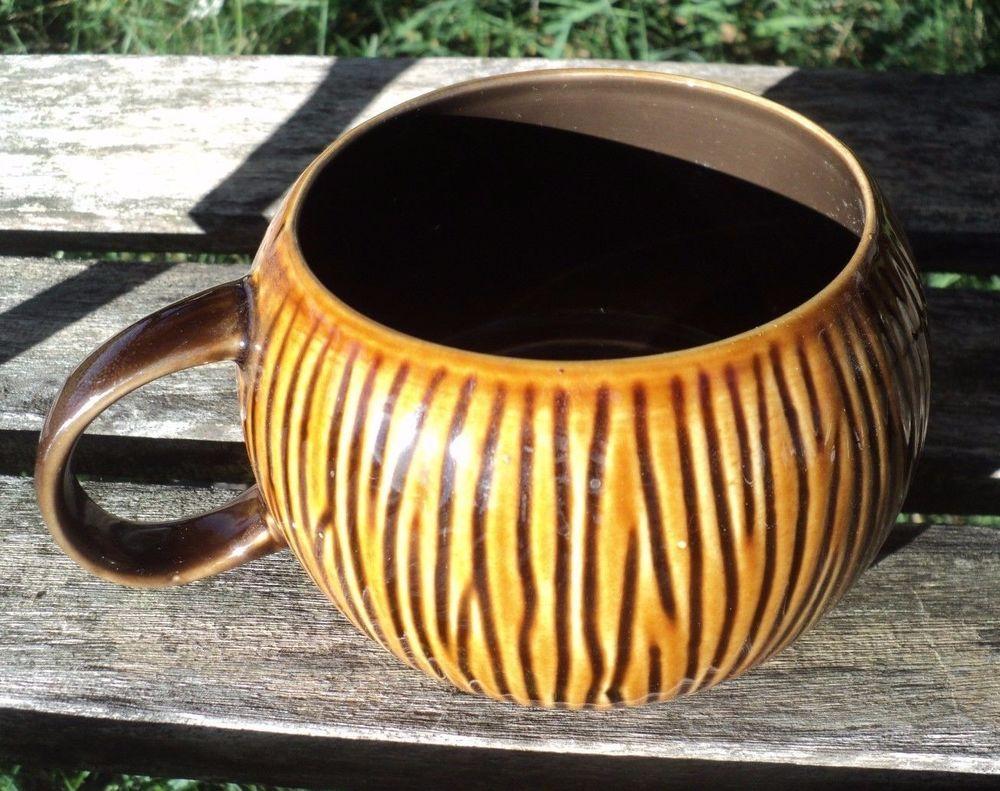 Starbucks Brown Coconut Tiki Mug 12 oz 2013 Stackable