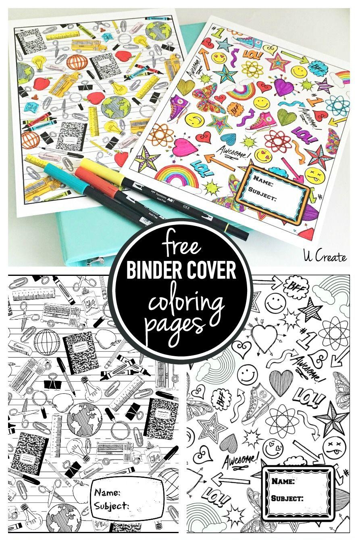 Binder Cover Coloring Pages (U Create) | Printable binder covers ...