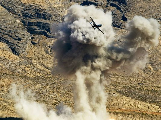 """A-10 CAS training bomb. The A-10 """"Warthog"""" has participated in 11 percent of US Air Force sorties against ISIS, the service said today. (Photo: US Air Force)"""