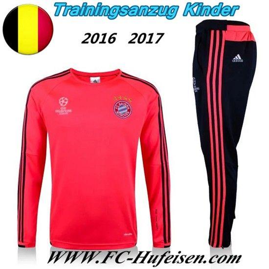 Schönsten Neue Fußball Trainingsanzug Bayern München Kinder Kits Rot 2016 2017 Meaney