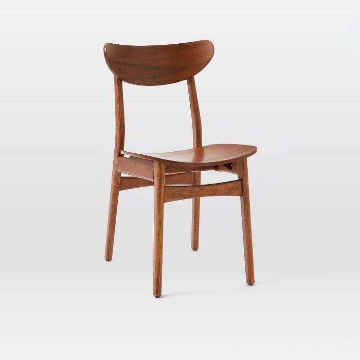 West Elm Classic Café Dining Chair   Walnut