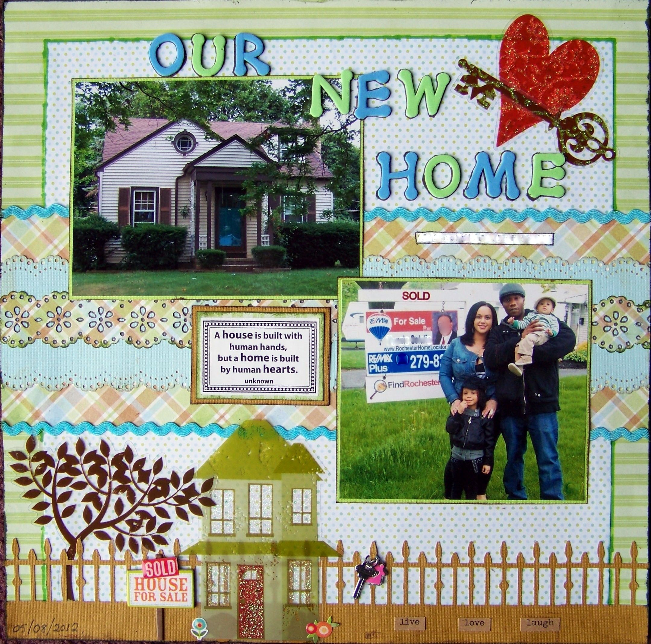 Our new home crafts pinterest scrapbook scrapbooking and scrapbooking ideas - Scrapbooking idees pages ...