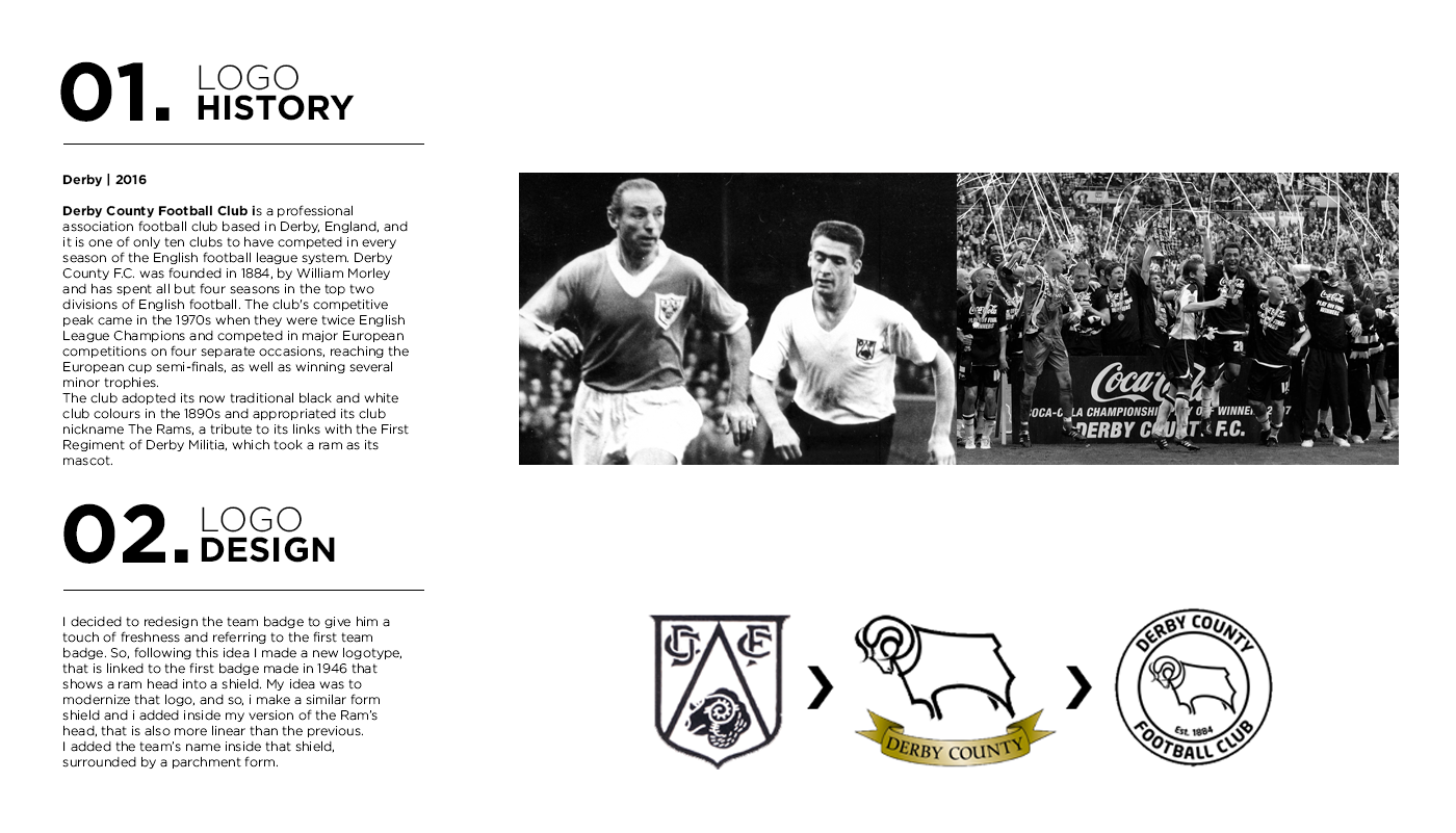 Derby County Rebrand Concept Football Project On Behance Derby County Football Derby