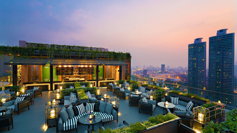 Abar Rooftop Marriott Hotel Sukhumvit Bangkok Rooftop Marriott Hotels Hotel