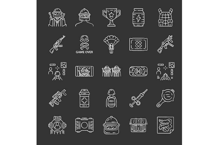 Online Game Inventory Icons Set Icon Online Games Custom