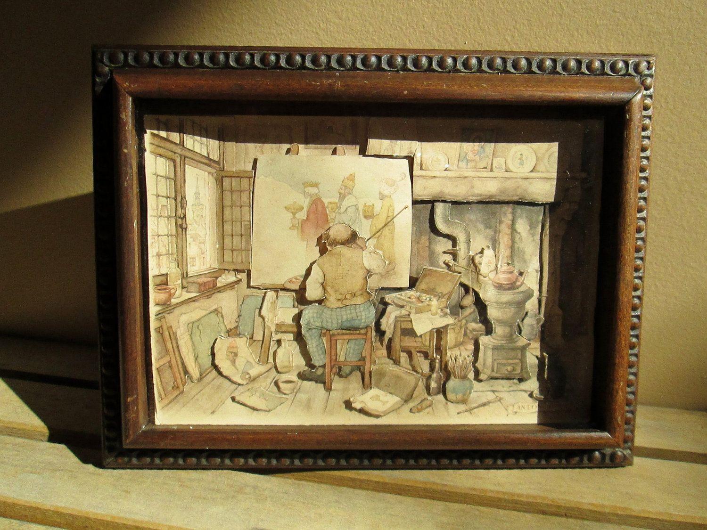 Anton Pieck 3D Shadow Box Framed Prints - Set of 3 | Pinterest ...