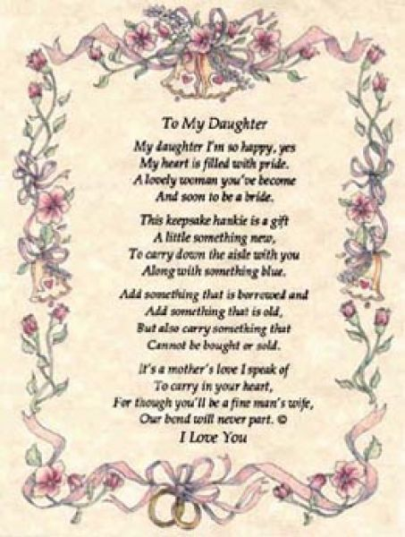 Poems To A Daughter From Her Mother On Her Wedding Day Katie