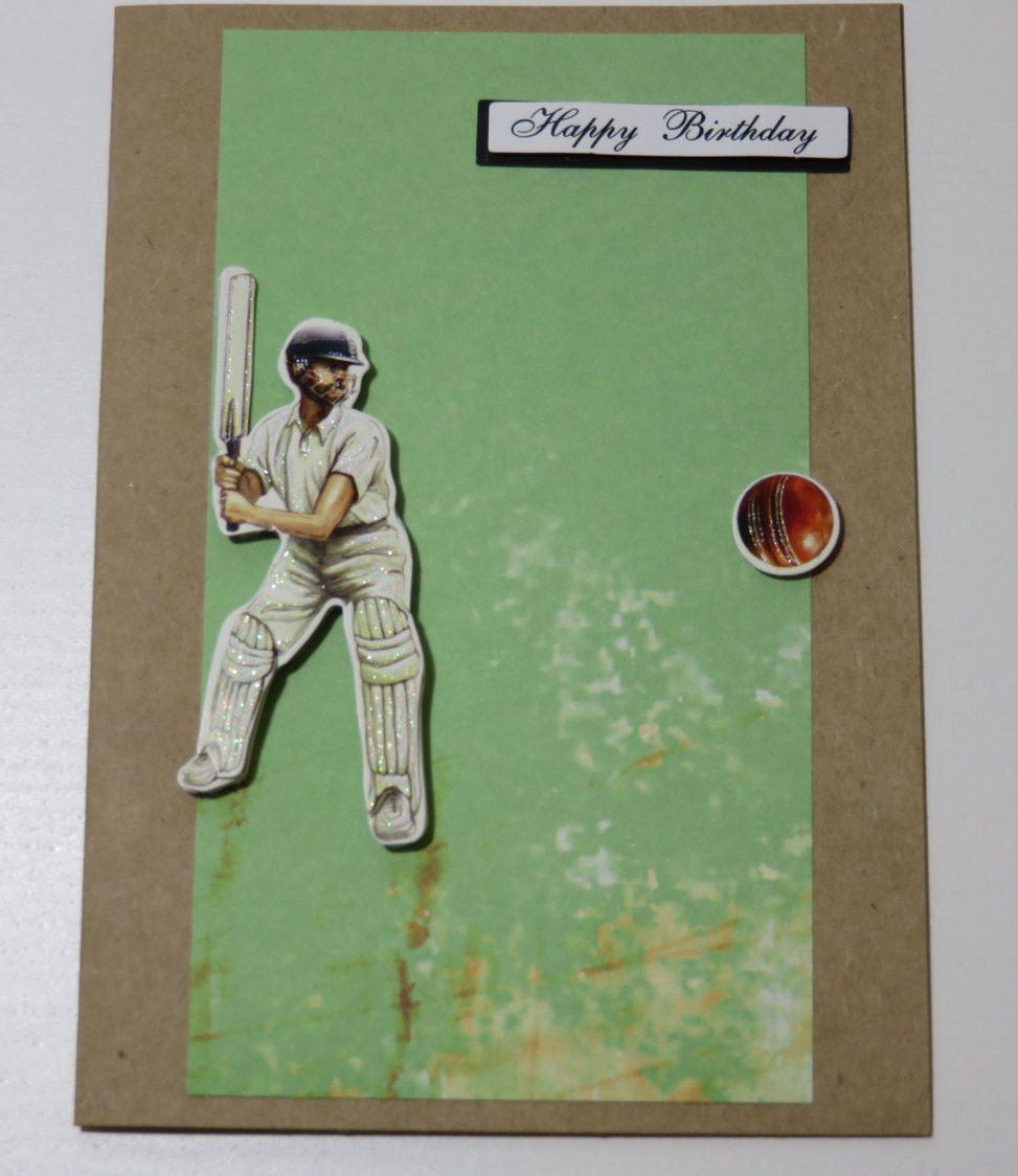 Handmade Greeting Card Male Cricket Birthday Father 39 S Day Birthday Cards For Brother Greeting Cards Handmade Birthday Presents For Dad
