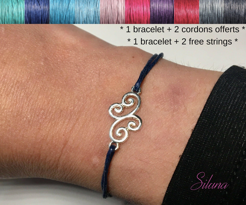 bracelet femme avec cordon