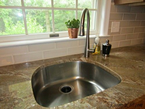 The Big Reveal Kitchen Remodel Is Complete Kiss My List Kitchen Remodel Kitchen Sink Faucets Kitchen Sink Faucet Placement