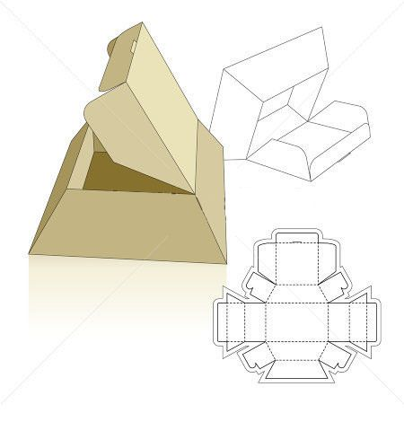pyramid base box typography Pinterest Box, Box templates and - pyramid template
